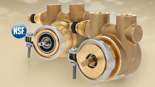 Volumetrische Pumpe Fluid-O-Tech in der Eco-Brass Version